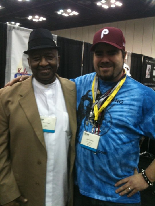 With legend Bernard Purdie at Pasic 2010.