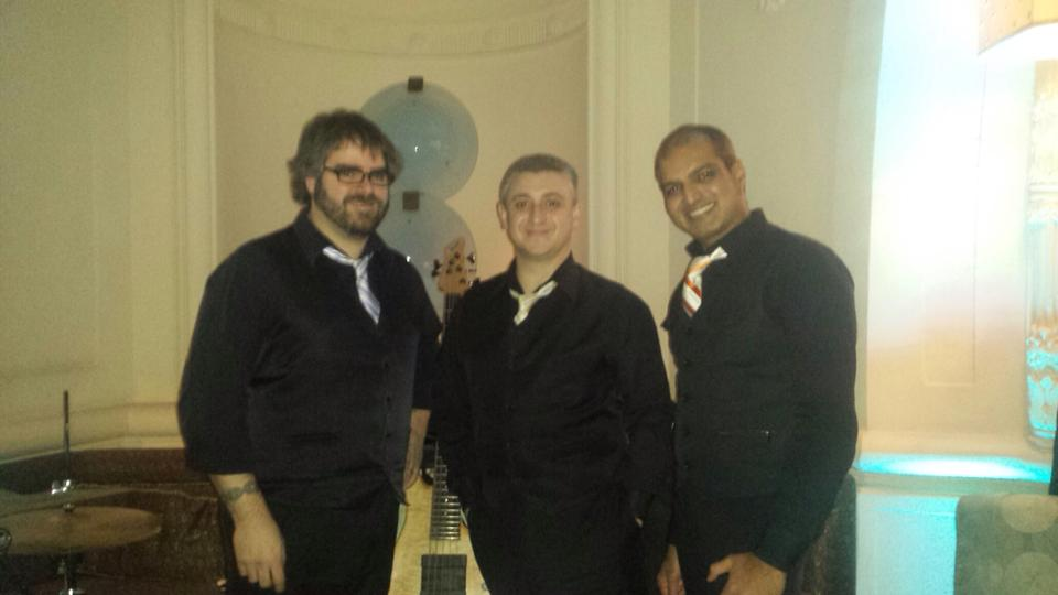 With two of my favorite musicians......ever! Anil Veeraraj and Arthur Paley at New Years 2013/2014.