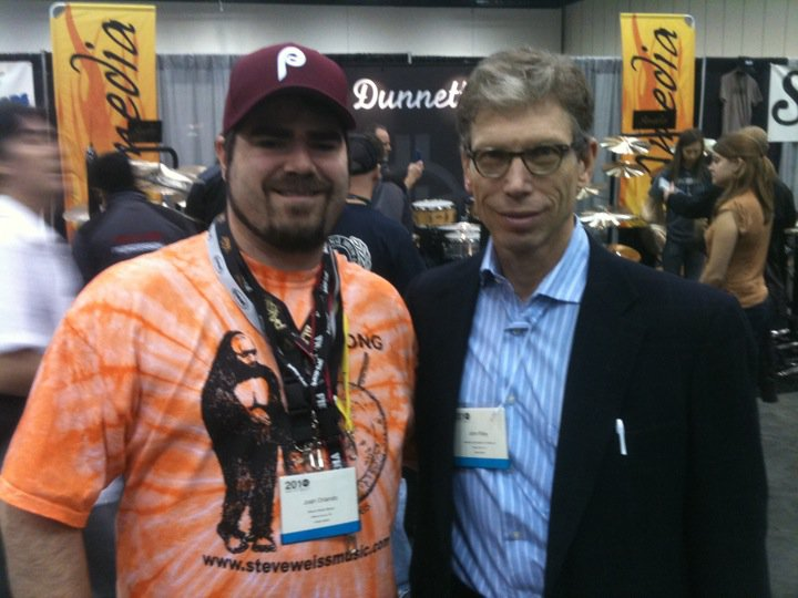 With Village Vanguard drummer John Riley at Pasic 2010.